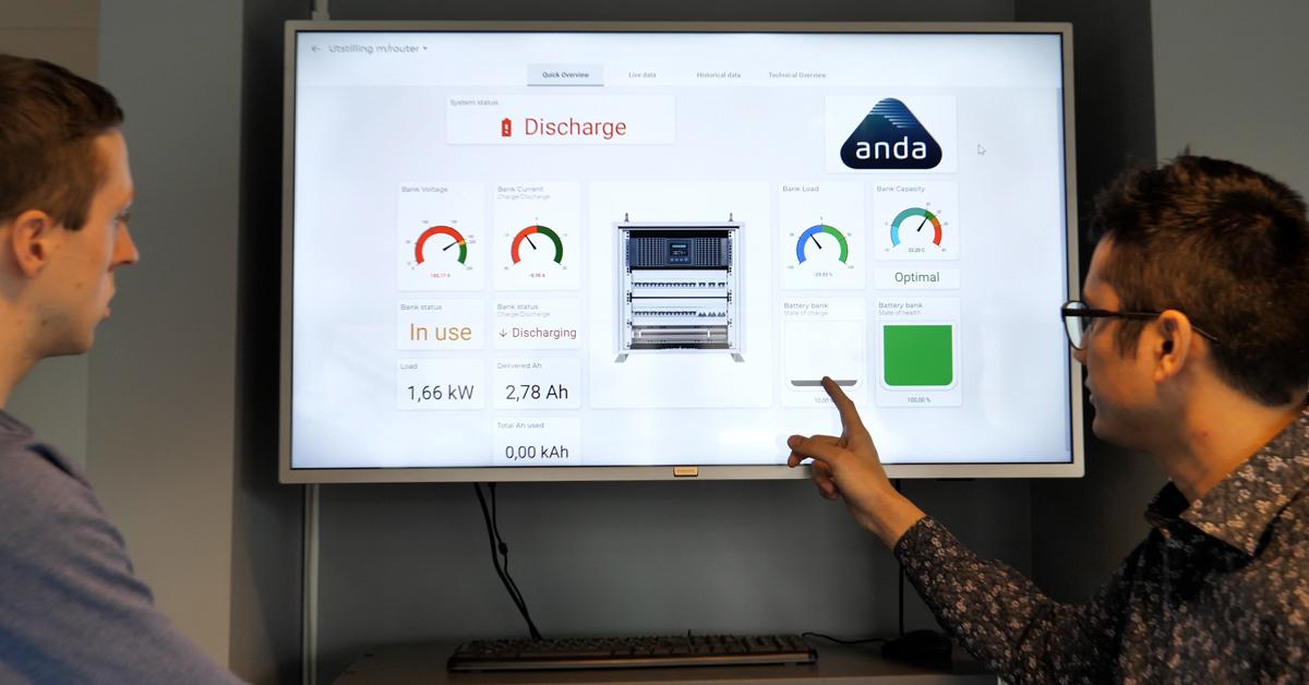 Henning og Michael står i spissen av utviklingen av Anda Cloud - monitoreringssystemet.