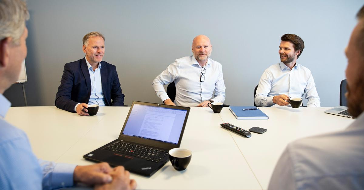 Team fra Converto som driver Novela Kapital: Fra venstre: Christer Valderhaug, Ivar Nesset og Erik Skarbøvik